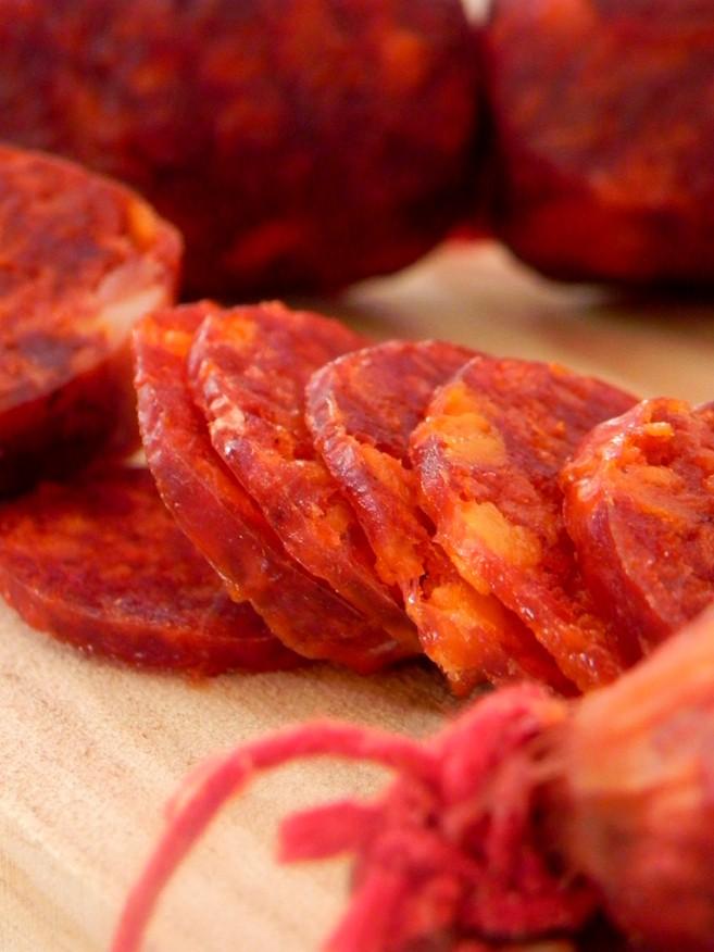 Slices of Chorizo Ibérico