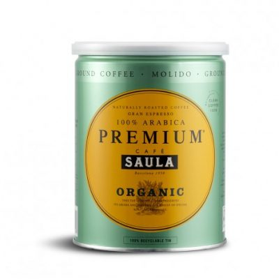 Café Saula's Premium Organic Ground Coffee 500g
