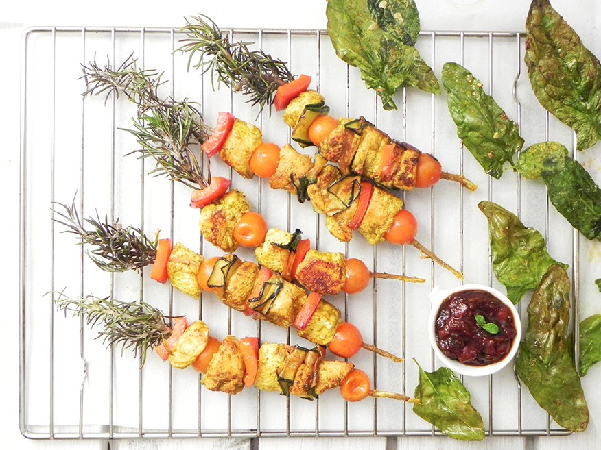 Chicken Skewers with Mixed Spices   Pinchos Morunos