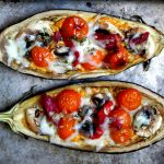 Cod-Stuffed Aubergines with Tupi de Sort Cheese