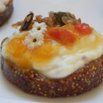 Fig Bread Tartlets with Sweet Peach & Apricot Jam