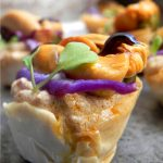 Filo Pastry Baskets with Scallop Pâté and Mussels
