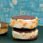 Mango Crunch Ice Cream Sandwiches