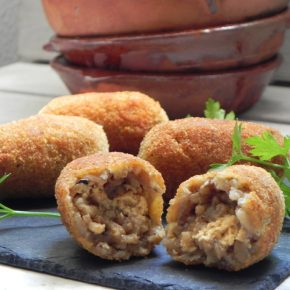 Rice Croquetas with Salmon
