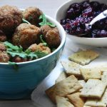 Spanish Style Meat Balls with Cranberry & Orange Salsa