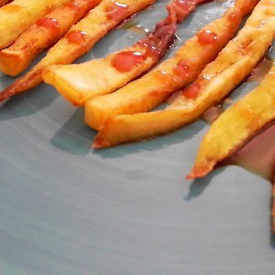 Crispy Deep-Fried Aubergine Slices With Palm Honey