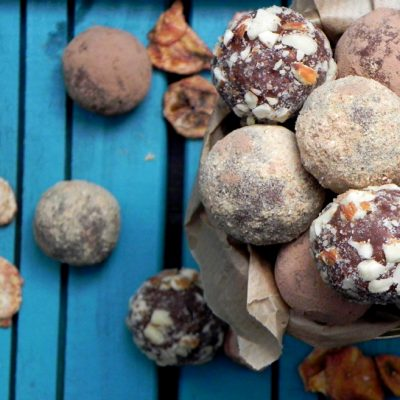 Banana And Salted Almond Chocolate Truffles