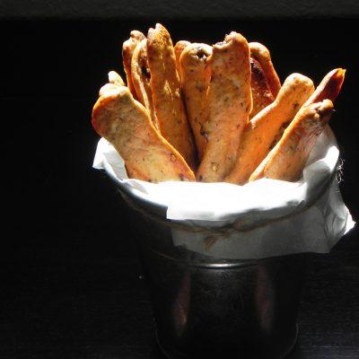 Black Olive & Ginger Bread Sticks