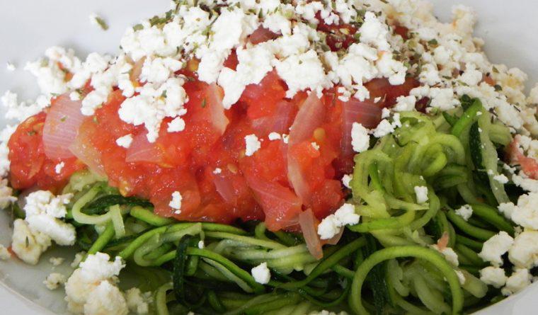Courgetti Tricolore - Courgette Spaghetti with Tomato