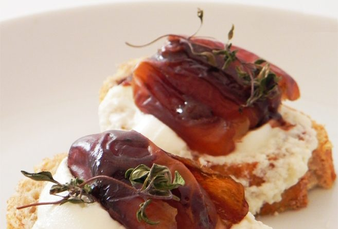 Goat Cheese with Dates & Thyme bite