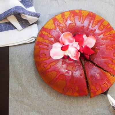 Honey Bizcocho With Rose Petal Jelly