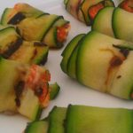 Stuffed Courgette rolls
