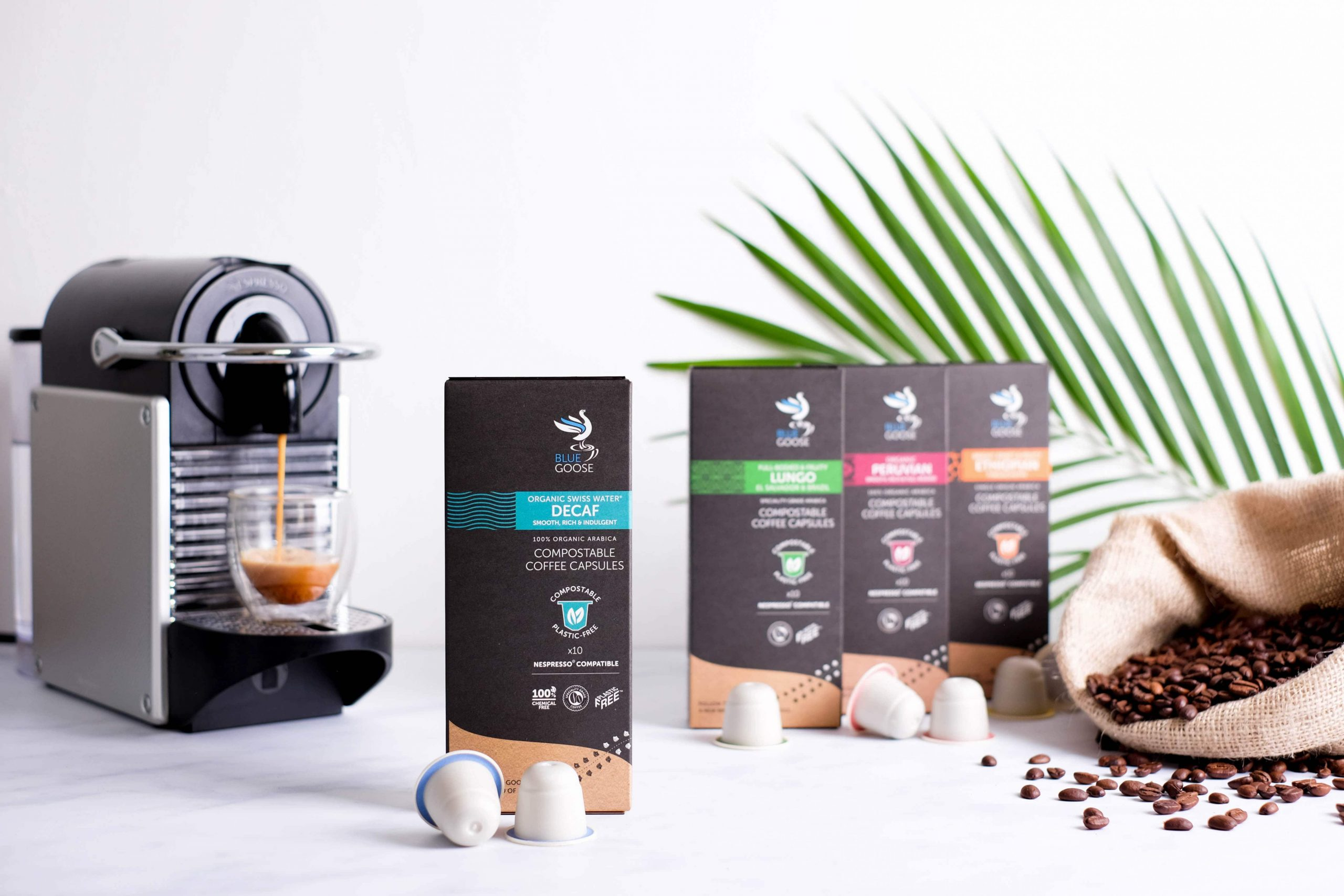 Organic Swiss Water Decaf Compostable Nespresso® Coffee Capsules