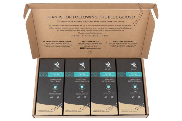 Biodegradable-Compostable-Nespresso-Coffee-Pods-Blue-Goose-Plastic-Free-Eco-Coffee-Capsules-Swiss-Water-Decaf-Organic