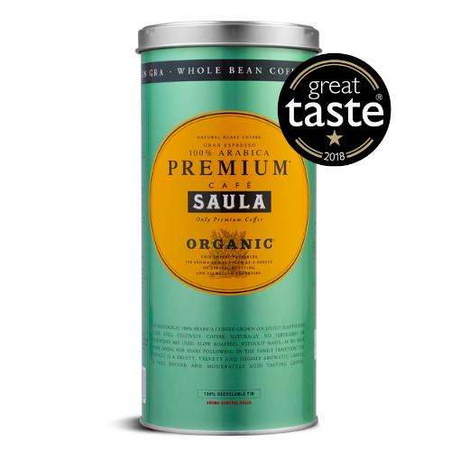 Cafe Saula Organic Coffee Beans Great Taste Award 2018 whole beans spanish coffee