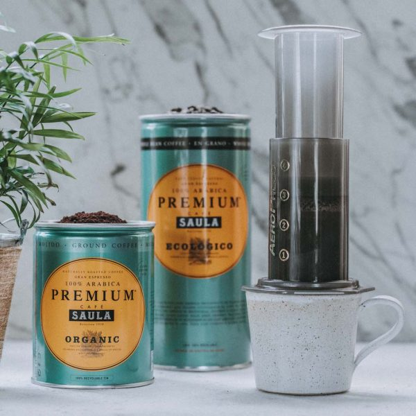 Cafe Saula Organic Whole Bean Coffee Aeropress