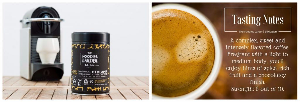 Biodegradable Coffee Capsules-Ethiopian-Yirgacheffe-Organic-Nespresso-compatible
