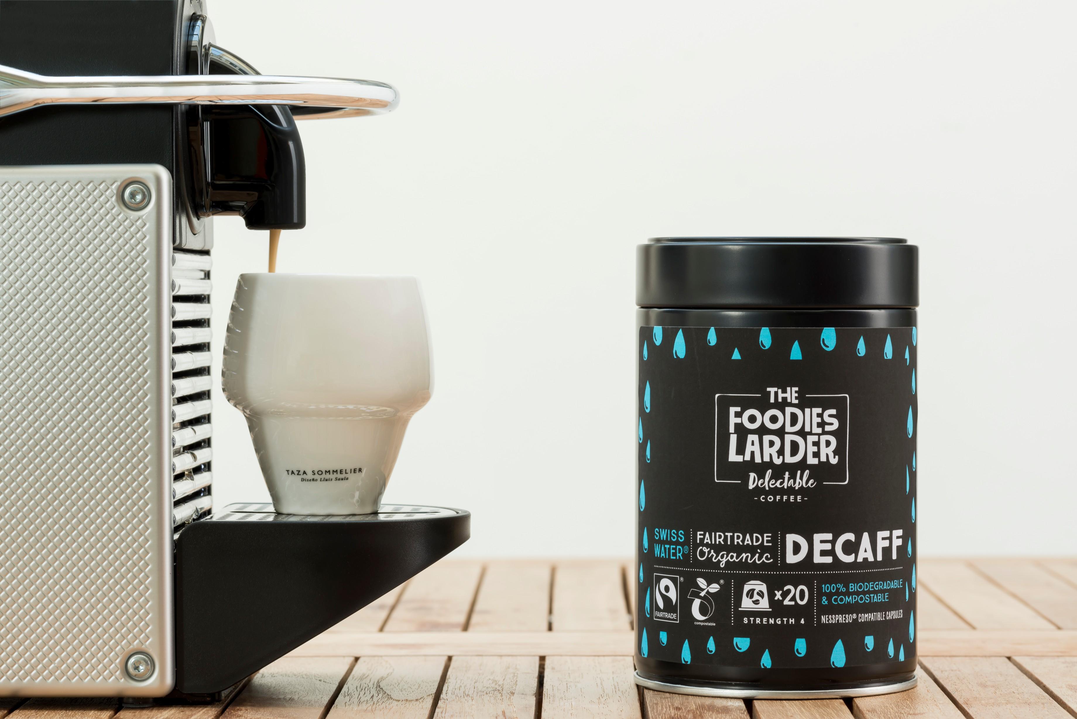 Biodegradable-compostable-Nespresso-Coffee-Capsules-organic-fairtrade-rainforest alliance-Swiss-Water-Decaff-Amazon