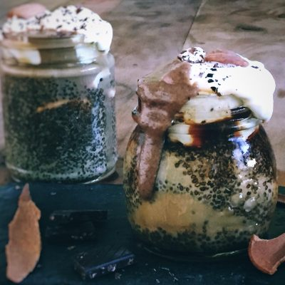 Coffee, Chia Seed & Peanut Butter Pudding