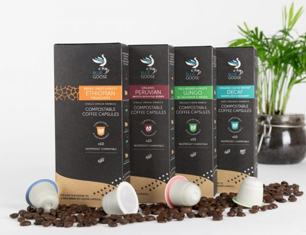 Eco Compostable Nespresso Coffee Pods Blue Goose Plastic Free Eco Coffee Capsules