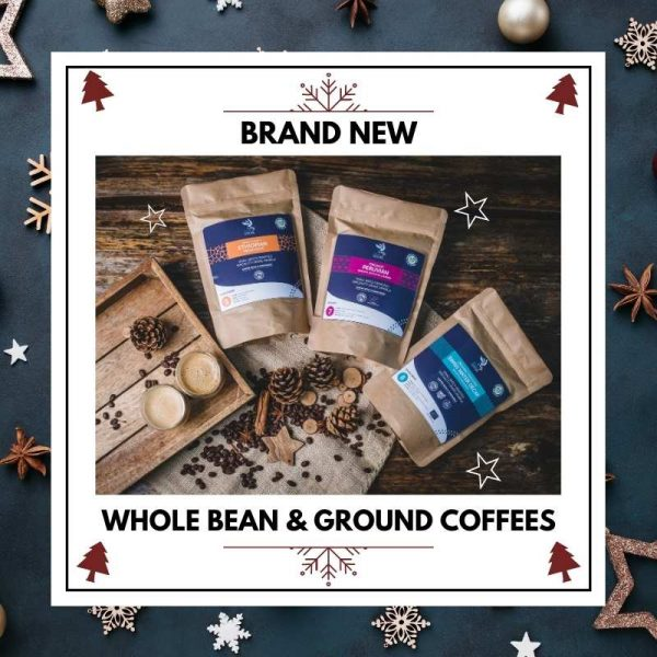 Whole Bean & Ground coffee GIFTS compostable pouches - Blue Goose Coffee